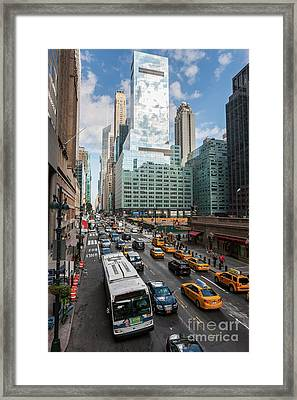 New York City 42nd Street Traffic V Framed Print by Clarence Holmes
