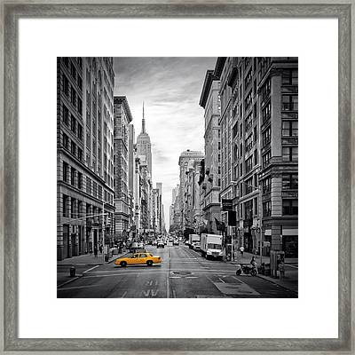 New York City 5th Avenue Framed Print