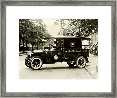 New York City Ambulance Framed Print by Jon Neidert