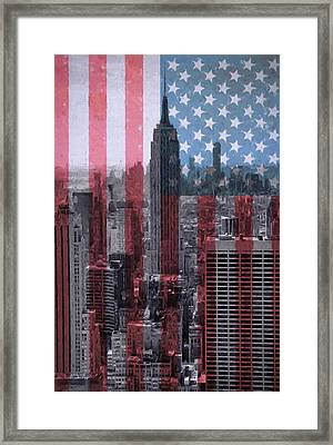 New York City American Pride Framed Print