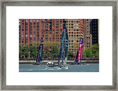 New York City America's Cup Framed Print