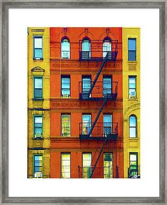 New York City Apartment Building 2 Framed Print