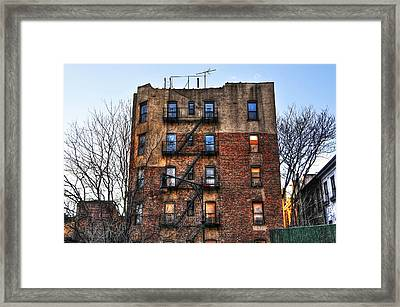 New York City Apartments Framed Print by Randy Aveille
