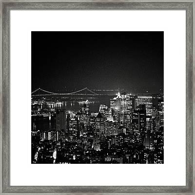 New York City At Night Framed Print