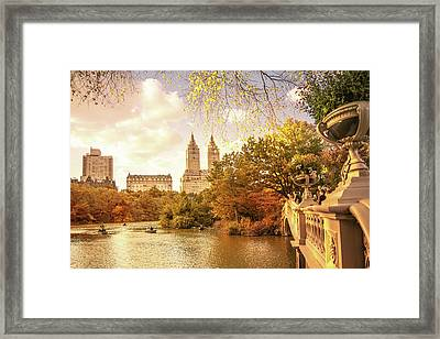 New York City Autumn Landscape Framed Print