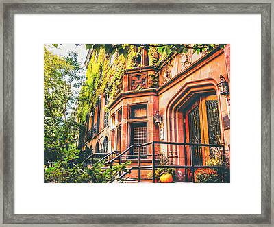 New York City Autumn Framed Print by Vivienne Gucwa