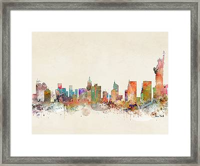 New York City Framed Print by Bri B