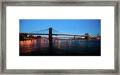 New York City Bridges Framed Print