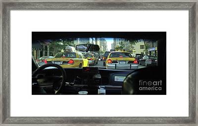 New York City Cab Ride Framed Print