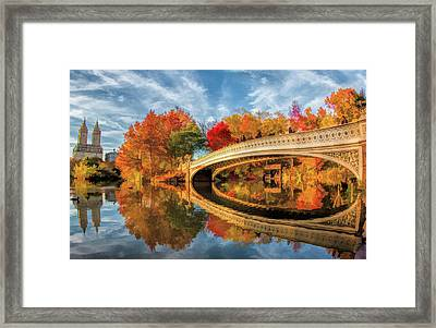 New York City Central Park Bow Bridge Framed Print