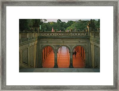 New York City Central Park Romance Framed Print by Vivienne Gucwa