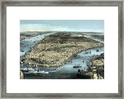New York City Circa 1850 Framed Print by War Is Hell Store