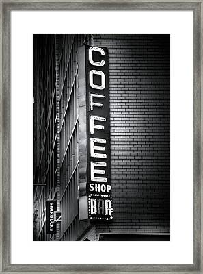 New York City Coffee House Framed Print