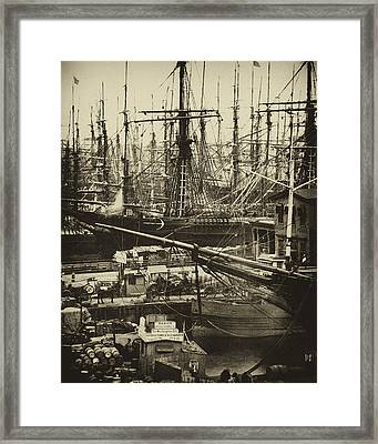 New York City Docks - 1800s Framed Print