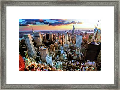 New York City Downtown Manhattan Framed Print