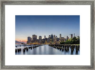 New York City Dusk Framed Print