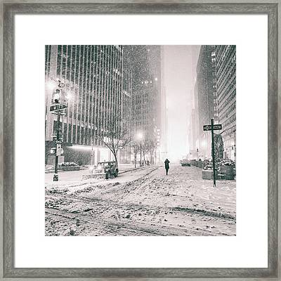 New York City - Empty Streets Framed Print by Vivienne Gucwa