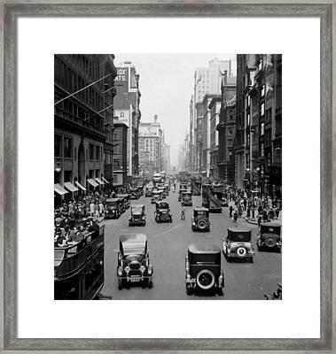 New York City, Fifth Avenue, North Framed Print