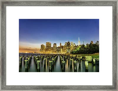 New York City From Brooklyn Framed Print
