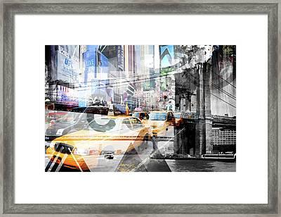 New York City Geometric Mix No. 9 Framed Print by Melanie Viola