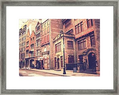New York City - History In The Streets Framed Print by Vivienne Gucwa