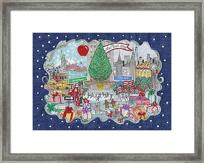 New York City Holiday Framed Print