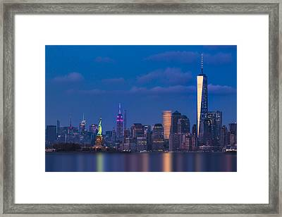 New York City Icons Framed Print by Susan Candelario