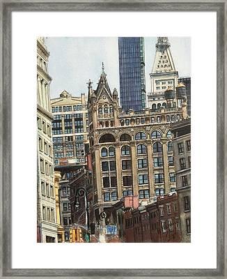 New York City IIi- Union Square/ Broadway Framed Print