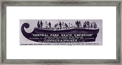 New York City, Illustration Advertising Framed Print by Everett