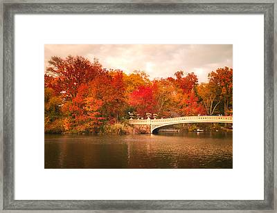 New York City In Autumn - Central Park Framed Print by Vivienne Gucwa