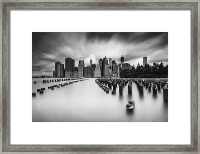 New York City In Black And White Framed Print
