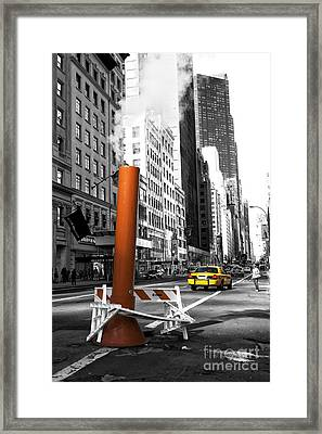 New York City Life Fusion Framed Print by John Rizzuto