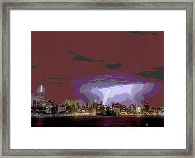 New York City Lighting Framed Print