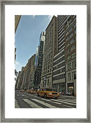 New York City Framed Print by Louis Daigle