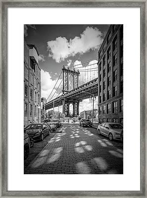 New York City Manhattan Bridge Framed Print