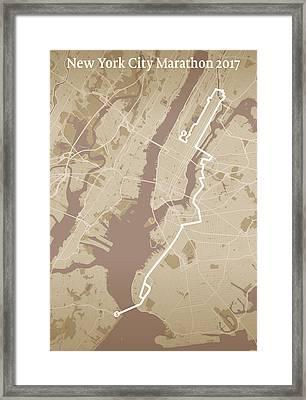 New York City Marathon #1 Framed Print by Big City Artwork