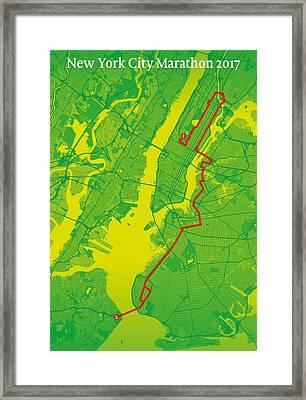 New York City Marathon #2 Framed Print by Big City Artwork
