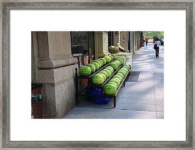 New York City Market Framed Print by Frank Romeo