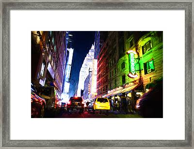 New York City Framed Print by Matthew Ashton