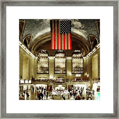 New York City Midtown Manhatten Grand Central Terminal 20160215 Square Framed Print