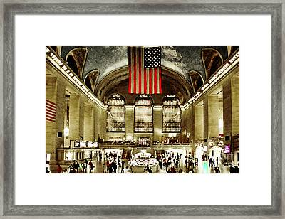 New York City Midtown Manhatten Grand Central Terminal 20160215 Framed Print