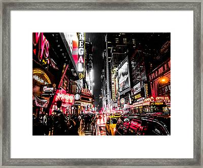 New York City Night II Framed Print by Nicklas Gustafsson