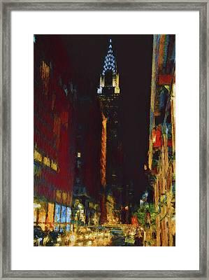 New York City Night Lights Framed Print by Dan Sproul