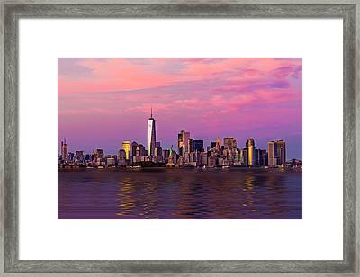 New York City Nyc  Landmarks Framed Print by Susan Candelario