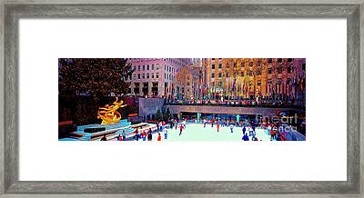 New York City Rockefeller Center Ice Rink  Framed Print