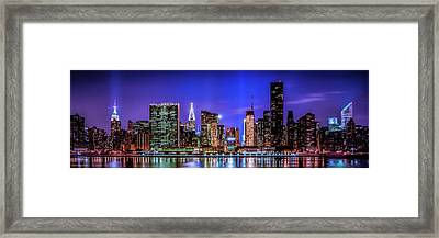 Framed Print featuring the photograph New York City Shine by Theodore Jones