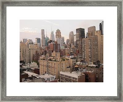 New York City Skyline From Murray Hill Framed Print by Anna Maria Virzi