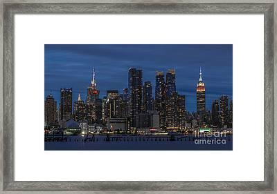 New York City Skyline Framed Print by Marco Crupi