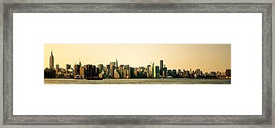 New York City Skyline Panorama Framed Print by Vivienne Gucwa