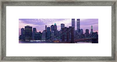 New York City Skyline Framed Print by Panoramic Images